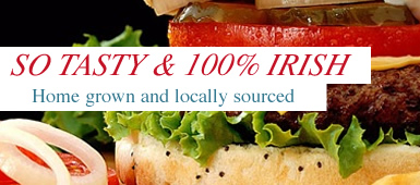 Tasty Burgers 100% Irish