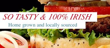 Tasty Burgers 100% Irish