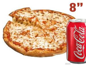 """8"""" MARGHERITA + 2 TOPPINGS + CAN"""