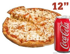 """12"""" MARGHERITA + 2 TOPPINGS + CAN"""