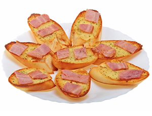 Garlic Bread with Bacon